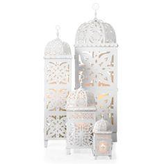 Casablanca Lanterns - White from Z Gallerie