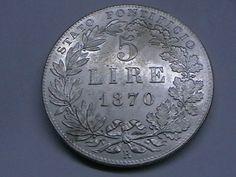 Annuncio COINS 5 LIRE 1870 - PIO IX PONT - Monnaie ITALIE - PAPE nella categoria Italia, San Marino e Vaticano,Europa (non-€ e pre-€),Monete,Monete e banconote su eBid Italia