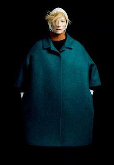 "Pic from The Room Magazine. ""Tilda Swinton wearing Jil Sander 2011 fall/winter, The Room 14"""