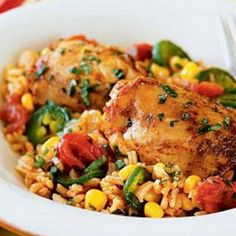 Peruvian Chicken with Spicy Rice Recipe