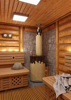 On the off chance that you need the wellbeing and health advantages of steam without heading off to the spa, at that point you can either purchase a home unit pre manufactured or make your own sauna design. Saunas, Minimalist Baths, Indoor Sauna, Sauna Design, Finnish Sauna, Sauna Room, Spa Rooms, Wood Interiors, Pool Designs