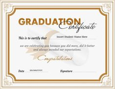 Graduation certificate template for ms word download at http graduation certificate for ms word download at httpcertificatesinn graduation certificates yelopaper Images