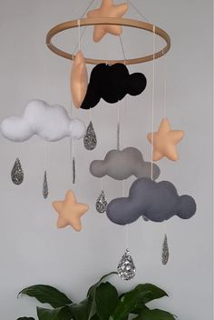 baby room ideas 475340935672830047 - Clouds stars baby mobile, montessori mobile, monochrome nursery, baby crib mobile, neutral mobile Source by Baby Room Diy, Baby Boy Rooms, Baby Room Decor, Nursery Room, Diy Baby, Star Nursery, Star Themed Nursery, Baby Boy Bedroom Ideas, Zoo Nursery