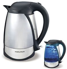 Illuma Jug  Have you seen the light? Add illumanation to your kitchen with the Illuma Kettle. This unique kettle has two stunning looks. When the power is off it is a glass kettle but switch it on and watch the transformation. The glass changes to a fluorescent blue illumination. Domestic Appliances, Kettle, Kitchen Appliances, Watch, Glass, Unique, Blue, House Appliances, Diy Kitchen Appliances
