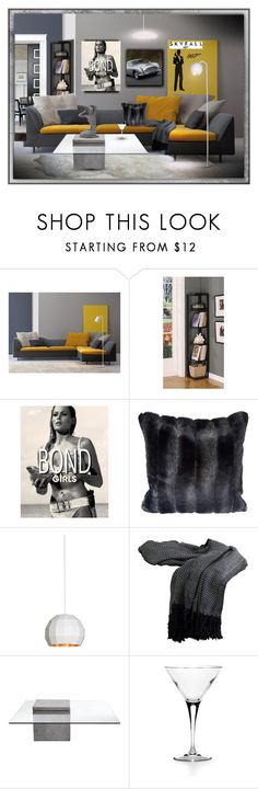 """Bond"" by brooksie1920 ❤ liked on Polyvore featuring interior, interiors, interior design, home, home decor, interior decorating, WALL, K&B Furniture, Aston Martin and James Bond 007"