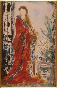 """""""Costume du matin pour un portrait moderne"""" de Gustave Moreau (1826-1898). Paris, musée Gustave Moreau - Photo (C) RMN-Grand Palais / René-Gabriel Ojéda"""