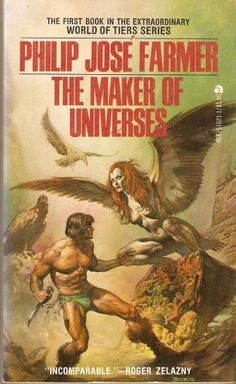 The Maker of Universes by Philip Jose Farmer 1977 cover by Boris Vallejo. Fantasy Book Covers, Book Cover Art, Comic Book Covers, Fantasy Books, Comic Books, Fantasy Art, Book Art, Boris Vallejo, Arte Do Pulp Fiction
