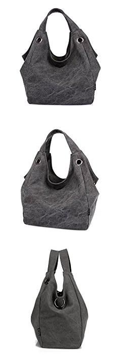 Gray Hobo Bag. Good Bag 2015 New Fashion Heavy Duty Canvas Tote Bag Women's Shoulder Bags Large Canvas Tote Color Gray.  #gray #hobo #bag #grayhobo #hobobag
