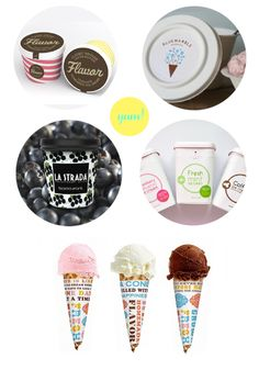 pretty packaging: ice cream. | dotted design