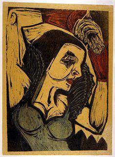 Ernst Ludwig Kirchner Expressionism | Ernst Ludwig Kirchner (German Expressionist, 1880-1938) Marzella c ...