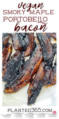Easy Vegan Portobello Bacon with Smoky Maple is delicious, smoky, sweet, and super easy to make. The marinade can last overnight or just a few minutes. Either way, it's tasty delicious. Vegan Vegetarian, Vegetarian Recipes, Vegan Food, Food Food, Healthy Eating Recipes, Whole Food Recipes, Foodblogger, Portobello, Vegan Dishes