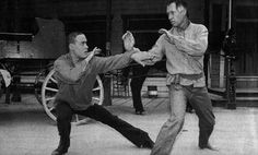 Brandon Lee and David Carradine in Kung Fu The Movie