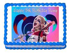 Suicidio Escuadrón Harley Quinn fiesta decoración por CakesForCures