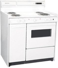 Summit Deluxe Electric Range w/ Clock, Timer & Oven Light, White, ft