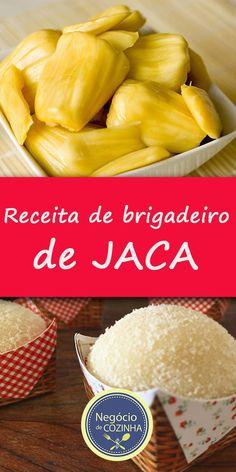 Receita de brigadeiro de jaca!  É isso mesmo, experimentei e fiquei apaixonada! Essa é mais uma oportunidade de incrementar o seu negócio de brigadeiros gourmet.  Aprenda e arrase nas vendas!  #BrigadeiroGourmet #BrigadeiroDeJaca #ReceitaDeBrigadeiro #Brigadeiro #GanharDinheiro #Doces #façaevenda #FaçaEVenda Brazilian Dishes, Sweet Recipes, Healthy Recipes, Dinner With Friends, Juicy Fruit, Vintage Recipes, Kitchen Recipes, Finger Foods, Food Porn
