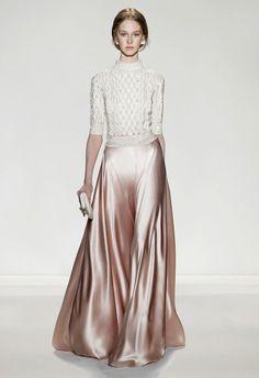 Bilderesultat for silk skirt long