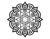 Dibujo de Mandala vegetal life