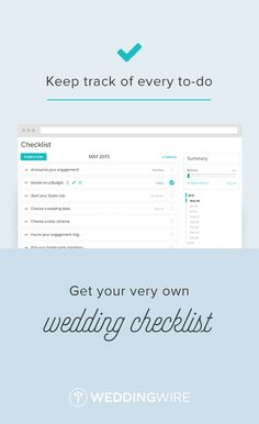 Sign up to stay organized with our custom wedding checklist!