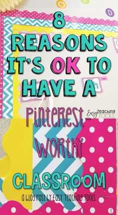 """I'm sharing 8 reasons why I have a Pinterest-worthy classroom. Does it make me a better teacher? Absolutely not! Does it make me happy? Of course! Click through to see if having a """"Pinterest worthy classroom"""" is something you strive for. Or - read the opposing viewpoint on why it's ok to NOT have a Pinterest-worthy room. Either way - you can be a great teacher. Click to learn more! #RealTeachers #Teacher #Teaching 2nd Grade Teacher, 4th Grade Classroom, Primary Classroom, Kindergarten Teachers, Elementary Teacher, Upper Elementary, Back To School Activities, School Resources, Classroom Setting"""