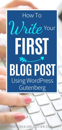 Blogging for beginners guide to write your first blog post on WordPress Gutenberg. These WordPress 101 tutorials will show you how using WordPress Gutenberg can be done efficiently. Discover the simplest way to add text, format paragraphs, add images and more with this WordPress tutorials guide. Any blogging beginner can start with this guide and know how to start using the WordPress Gutenberg editor the easy way. #wordpresstips #bloggingtips #blogging #newblogger #blogtips #bloggingforbeginners Make Money Blogging, Make Money Online, How To Make Money, Wordpress Website Design, First Blog Post, New Things To Learn, Wordpress Plugins, Blogging For Beginners, Blog Tips