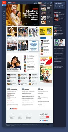 Newspaper article web page design