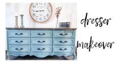 How to Blend Chalk Paint Like a Pro | Dresser Makeover - Thrifted Nest