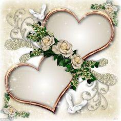 Happy Anniversary, Anniversary Cards, Wedding Anniversary, Heart Wallpaper, Love Wallpaper, Wedding Invitation Background, Wedding Invitations, Beautiful Gif, Beautiful Flowers