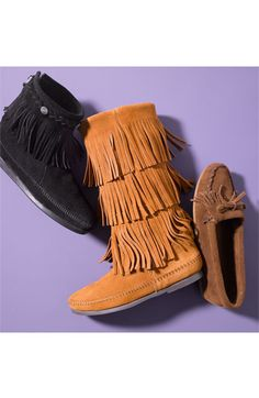 Minnetonka 'Kilty' Suede Moccasin | Nordstrom, mustard. I lurve these even though they get dirty.