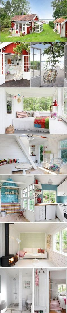 SHE SHED or tiny house.If I had to live in a tiny house this would be it SHE SHED or tiny house.If I had to live in a tiny house this would be it Tiny House Movement, Interior Design Minimalist, Tiny House Living, Cottage House, Small Living, Living Area, Living Rooms, Tiny Spaces, Tiny House Plans