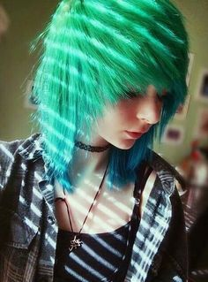 Green, blue ombre