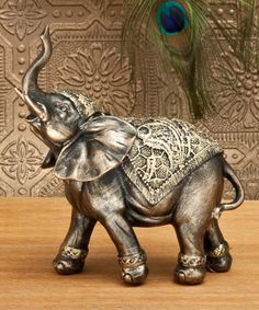 Love this 6'' Walking Elephant Figurine on #zulily! #zulilyfinds