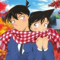 Detective Conan Wiki Ran And Shinichi Anime Couples Manga, Cute Anime Couples, Manga Anime, Detective Conan Ran, Detective Conan Shinichi, Ran And Shinichi, Kudo Shinichi, Conan Comics, Detektif Conan