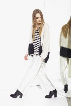 nude fashion cardigan knit-sweater knitwear pants print top moda style abbigliamento