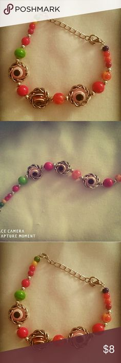 Colorful evil eye protection bracelet silver plate So colorful, evil 👀 eye protection bracelet. Silver plated. Jewelry Bracelets