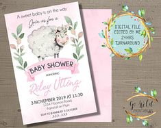 Printable Party Invitations and Printable Decorations by GoWildPrintables Digital Invitations, Party Invitations, Printable Party, November 2019, Printables, Baby Shower, Handmade Gifts, Babyshower, Kid Craft Gifts