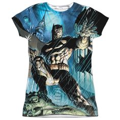 "Checkout our #LicensedGear products FREE SHIPPING + 10% OFF Coupon Code ""Official"" Batman/rainy Rooftop-s/s Junior Poly T- Shirt - Batman/rainy Rooftop-s/s Junior Poly T- Shirt - Price: $24.99. Buy now at https://officiallylicensedgear.com/batman-rainy-rooftop-s-s-junior-poly-t-shirt-licensed-4637"