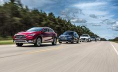 View 2016 Audi Q3 Quattro vs. 2016 BMW X1 xDrive28i, 2017 Infiniti QX30 AWD…