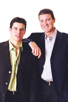 Sidney Crosby and Mario Lemieux
