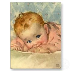 Vintage baby illustration