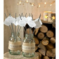 Children (and adults!) will love to pick their sparklers from these bespoke jars