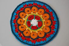 My Hearts and Flowers Mandala design for Yarndale 2014