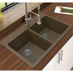 "winpro granite quartz 25"" x 22"" single bowl drop-in kitchen sink"