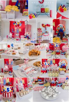 Carnival Circus Themed 5th Birthday Party