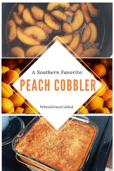 By Popular Demand: Peach Cobbler - When Grace Called Fruit Cobbler, Cobbler Recipe, Delicious Desserts, Dessert Recipes, Peach Cobblers, Vegetable Soup Healthy, Good Food, Yummy Food, Canned Peaches