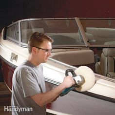 A repair pro shows you how to make invisible fixes for scuffs, dents and scratches in fiberglass boats and other fiberglass boat repair.