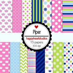Digital Scrapbooking Piper by azredhead on Etsy, $1.50