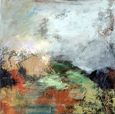 Pale Blue Landscape  2011  acrylic on canvas  24 x 24 inches  $900