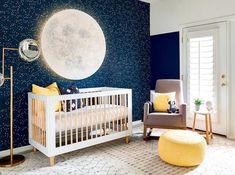 20 Beautiful Blue Nursery Ideas for Boys and Girls Rose Nursery, Yellow Nursery, Star Nursery, Baby Room Themes, Boy Nursery Themes, Baby Room Decor, Baby Boy Nurseries, Nursery Ideas For Boys, Baby Boy Bedroom Ideas