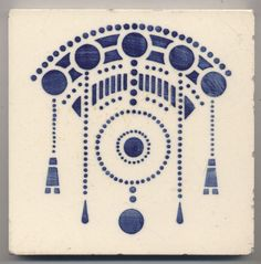 Super rare  DTAG  Ornament  Jugendstil  Fliese  art  nouveau  tile♥•♥•♥