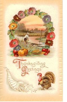 vintage thanksgiving images | stock-graphics-vintage-thanksgiving-postcard-0588